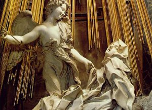 Gian Lorenzo Bernini, Ecstasy of St. Teresa, 1645-52 (Cornaro Chapel, Santa Maria della Vittoria, Rome)