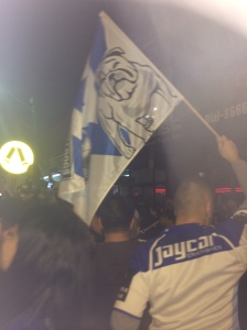 Bulldogs Supporters celebrate their victory in Belmore.