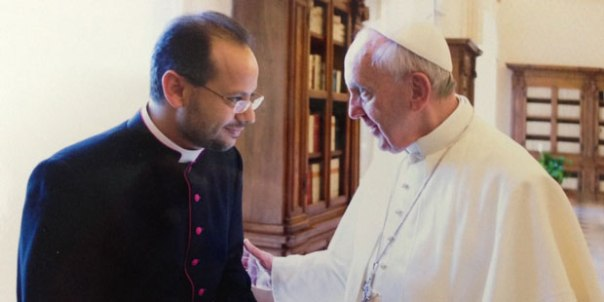 Coptic-Catholic Father Yoannis Lahzi Gaid, Pope Francis' personal secretary.