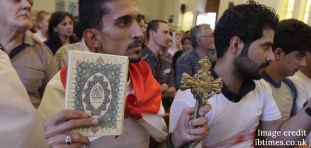 Iraqi Christians in prayer